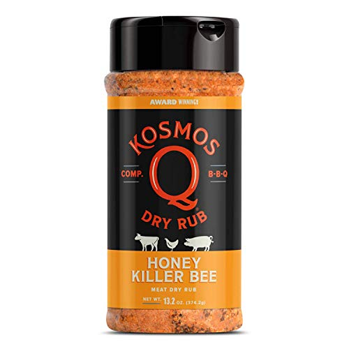 Killer Bee Honey Rub 12oz.Shaker Bottle - Barbecue Rub - GLUTEN FREE - NO MSG Rub
