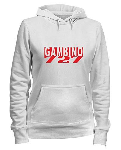 T-Shirtshock Felpa Donna Cappuccio Bianca OLDENG00084 GAMBINO