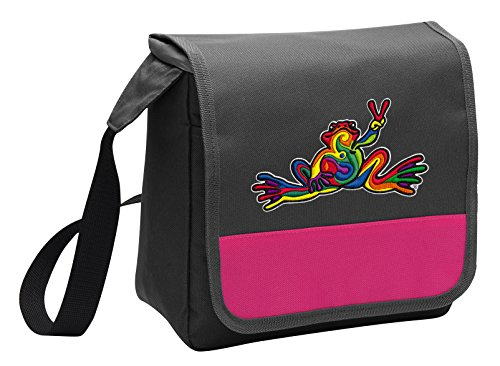 Cute Peace Frog Lunch Bag Ladies or Girls Peace Frogs Lunch
