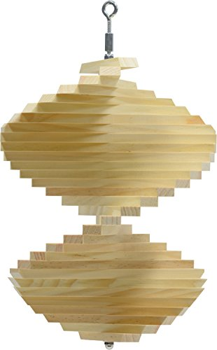 Natural Wood Wind Spinner - Made in USA