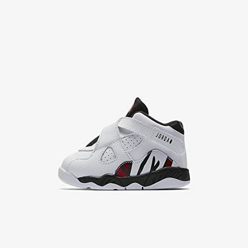 Nike 8 Retro BT Toddlers Shoes White/Gym Red/Black 305360...