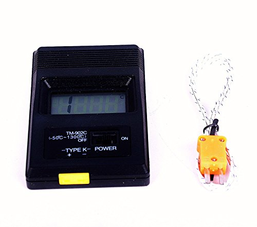 Tigervivi NEW Adroit Digital LCD K Type TM-902C Industrial Thermometer Single Input and Thermocouple ()