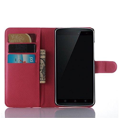 Funda Lenovo A7010,Manyip Caja del teléfono del cuero,Protector de Pantalla de Slim Case Estilo Billetera con Ranuras para Tarjetas, Soporte Plegable, Cierre Magnético H