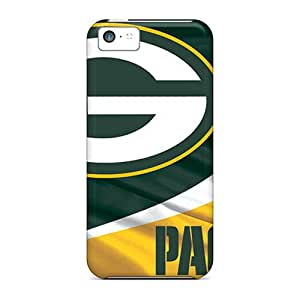 Flexible Tpu Back Case Cover For Iphone 5c - Green Bay Packers
