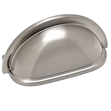 cosmas 4310sn satin nickel cabinet hardware bin cup drawer handle pull 3u0026quot inch