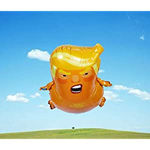 Ccoolhair Trump Baby Balloon|Mini Size 25.2 inches| Non-Toxic AL Film Material Balloon | Inflatable & Easy to Carry | with Balloon Ribbon