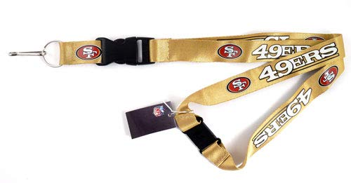 - NFL San Francisco 49ers Team Lanyard, Gold