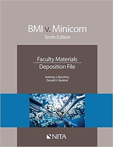 BMI v  Minicom: Tenth Edition Faculty Materials Deposition File