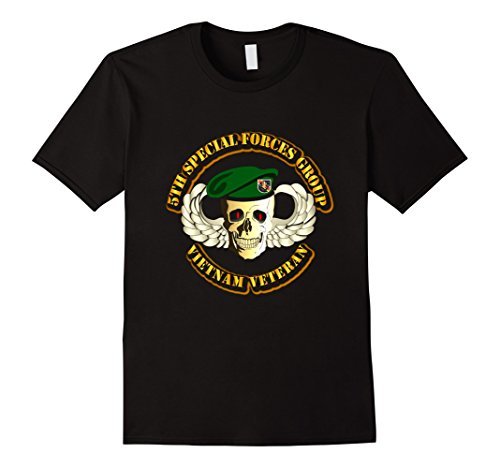 Mens Vietnam Veteran - 5th Special Forces Group Tshirt La...