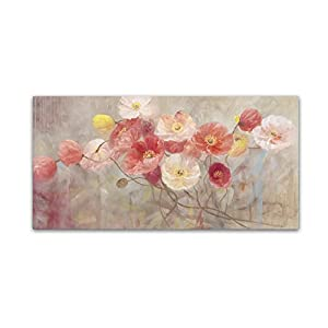 "Wild Poppies I Wall Decor by Li Bo, 16"" x 32"" Canvas Wall Art"