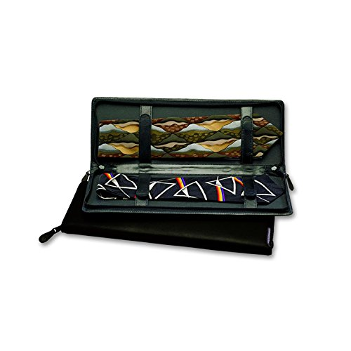 Budd Leather Zippered Tie Case, (Leather Zippered Tie Case)
