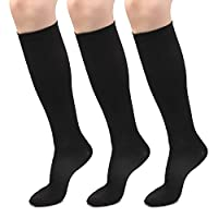 HARAVAL 3 Pairs Compression Socks for Women & Men, Running Socks, Sports Graduated Compression Socks for Basketball Athletic Nurse Medical Edema Travel Pregnancy 20-30 mmHg