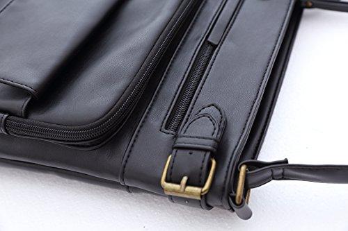 Small Bag WYN Zipper Women for Wristlet Bag��Womens Crossbody Lides Pocket Messenger Women Pockets Multi for Purses Shoulder PU Multi Fashion Crossbody Bag Black Bag Lightweight UrqnBaUz