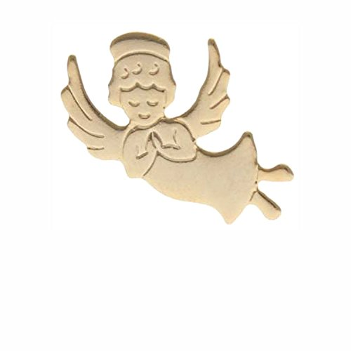 Sterling Gifts 10 Happy Angels Pins Gold, Flying Angel Pack of 10, Visiting Guardian ()