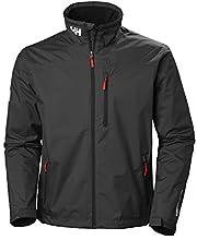 Helly Hansen Men's Crew Midlayer Fleece Lined Waterproof Windproof Breathable Rain Coat Jacket, 990 Black, XX-Large