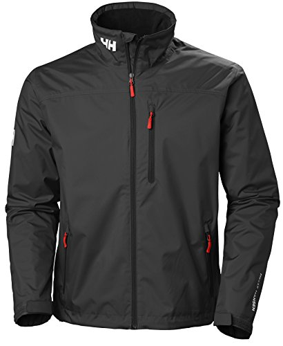 Helly Hansen Mens Crew Midlayer Waterproof Windproof Breathable Sailing Rain Coat Jacket  990 Black  Large