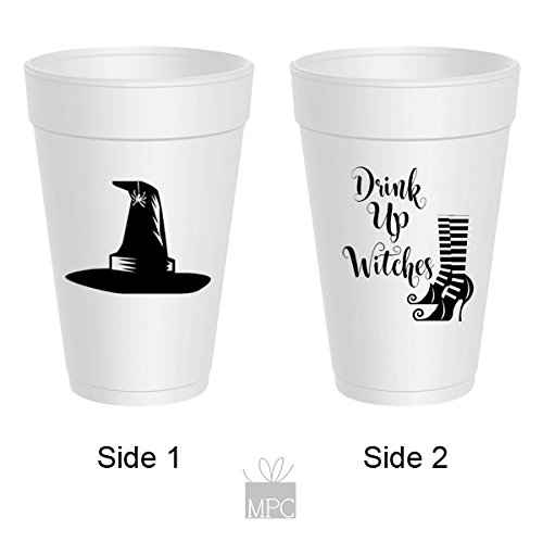 Halloween Styrofoam Cups - Drink Up Witches (10 cups)