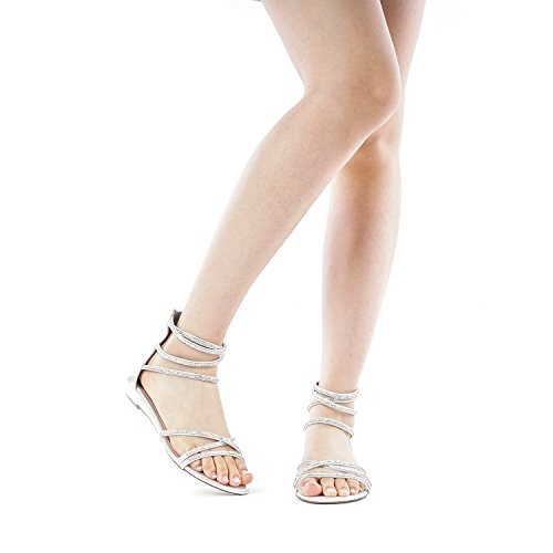 a5e96979a58 DREAM PAIRS Women s Ankle Strap Rhinestones Low Wedge Sandals - Buy ...