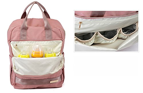 Vaya el bolso del bebé, bolso de múltiples funciones de la madre de gran capacidad de la bolsa de hombro, bolso simple de la momia de la manera ( Color : Gris ) Rojo