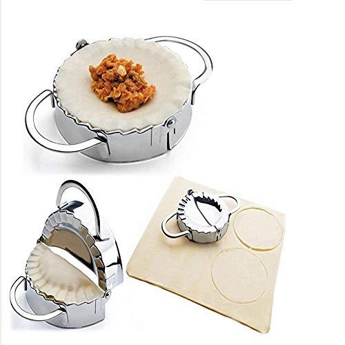 Eco-Friendly Pastry Tools Stainless Steel Dumpling Maker Wraper Dough Cutter Pie Ravioli Dumpling Mould Kitchen Accessories(9.5cm) (Machine Dumpling Maker)