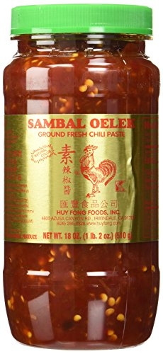 Huy Fong Foods Sambal Oelek Ground Fresh Chili Paste -- 18 oz