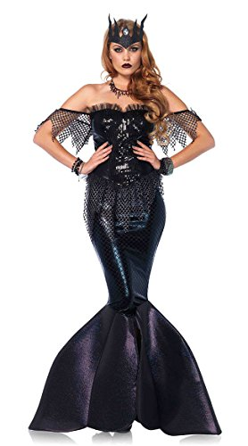Leg Avenue Women's Dark Water Mermaid Siren Costume, Black, ()
