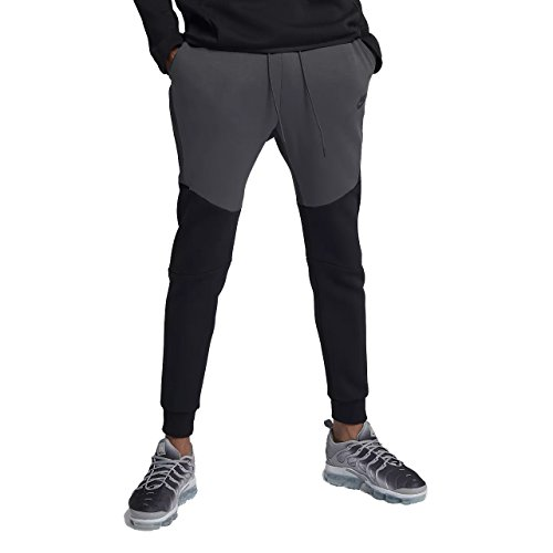 NIKE Mens Sportswear Tech Fleece Jogger Sweatpants Black/Anthracite 805162-012 Size Small ()