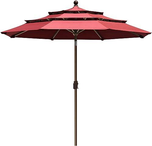 EliteShade-Sunbrella-9Ft-3-Tiers-Market-Umbrella-Patio-Outdoor-Table-Umbrella