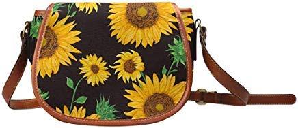 - InterestPrint Pattern With Sunflowers Womens Saddle Shoulder Bag Crossbody Sling Bag Travel Shopping Satchel