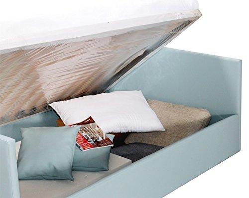 Bett Sofa auf Größe mit Unterseite Behälter komplett mit Matratze in Memory