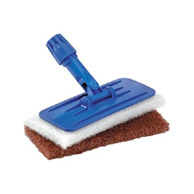 "Tolco 280138 Universal Pad Holder with 2 Cleaning Pads, 9"" Height, 1.75   Width, Blue/White/Brown"