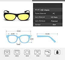 ERIOG Gafas de Sol Polarizadas Conducción HD Visión Nocturna