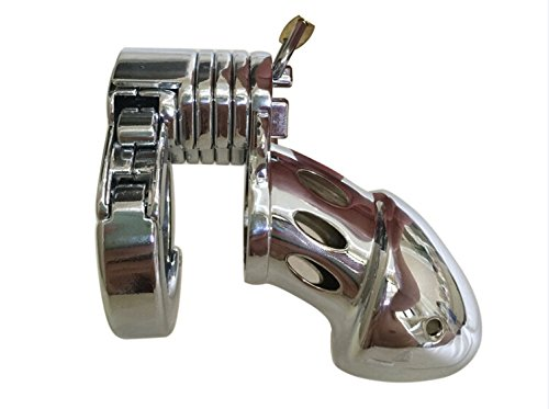 Hetam Newest! Top Quality Adjustable Size Male Multifunction Chastity Lock,Cock Cage,Men's Virginity Lock,Penis Ring,Cock Ring,CB019 by Hetam