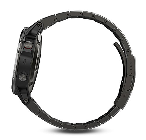 Garmin fenix 5 Sapphire (Slate Gray with Metal Band) GIFT BOX | Bundle includes Extra Silicone Band (Black), Screen Protector, PlayBetter USB Car/Wall Adapter, Protective Case | Multi-Sport GPS Watch by PlayBetter (Image #4)