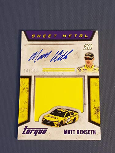 (Racing Nascar 2016 Panini Torque Silhouettes Sheet Metal Signatures Purple #20 Matt Kenseth NM Near Mint Jersey Auto)