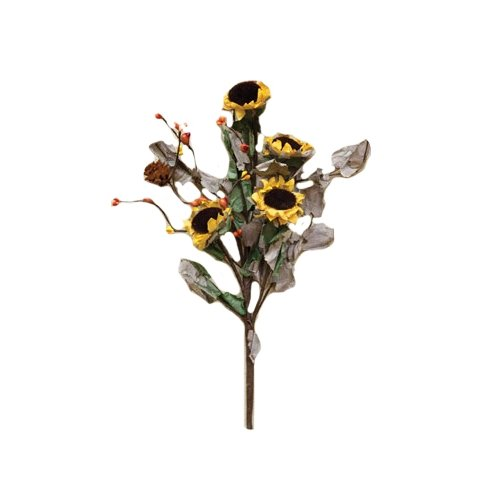 CWI Gifts 2-Piece Dried Sunflower Pick Set, 12-Inch