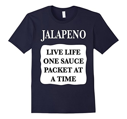 Mens Jalapeno Taco Hot Sauce Packets Halloween Costumes TShirt 2XL Navy