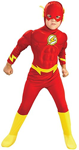 [Deluxe Muscle Chest Flash Costume - Small] (Flash Muscle Shirt Costumes)