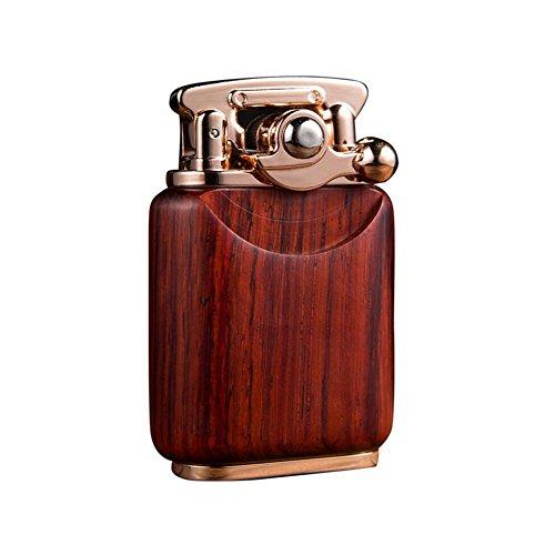 (Kywa Tobacco Pipe Lighter Soft Flame Rocker Arm Lighter Premium Wooden Kerosene Lighter for Men,#1)