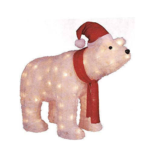 Outdoor Lighted Polar Bear Decorations in US - 1