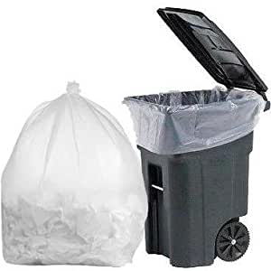 plasticmill 100 gallon clear 1 3 mil 67x79 30 bags case garbage bags trash can. Black Bedroom Furniture Sets. Home Design Ideas