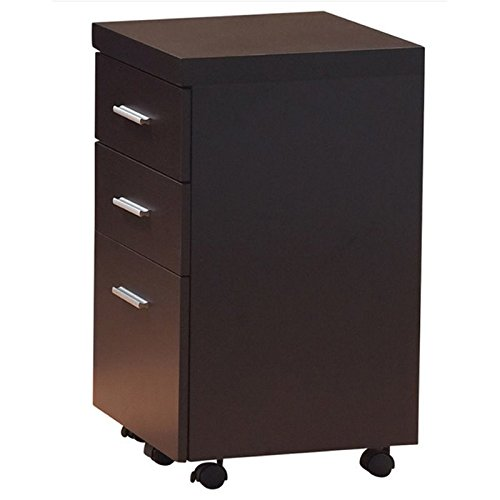 Coaster Skylar Cappuccino Three Drawer Mobile File Cabinet by Coaster Home Furnishings
