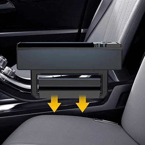 2.4A Car Seat Gap Organiser Dual USB Multifunctional Storage Box Phone Charger Car Automative Storage Case WonVon Car Seat Side Organizer Box