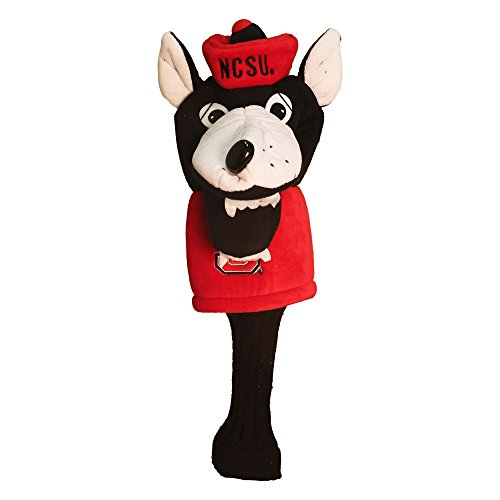 Team Golf NCAA NC State Wolfpack Mascot Golf Club Headcover, Fits most Oversized Drivers, Extra Long Sock for Shaft Protection, Officially Licensed Product
