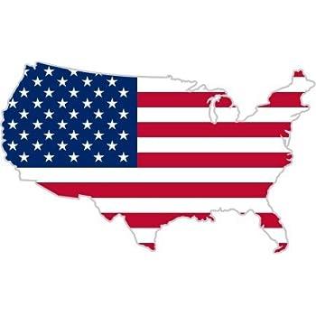 Amazon.com: USA United States of America American map flag sticker ...