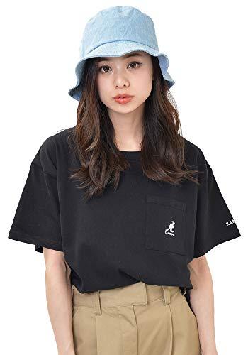 (디 루프) D-LOOP KANGOL 자수 포켓 T 셔츠 여성 캉골 티셔츠 124527