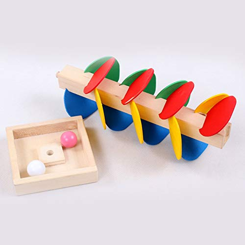 Montessori Educational Toy Wooden Tree Marble Ball Run Track Game Children Toy Lovelysunshiny