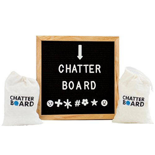 Felt Letter Board - Best for Instagram with Changeable Letters, Numbers and Symbols Plus Emojis - 2 Storage Bags Included - 690+ Characters
