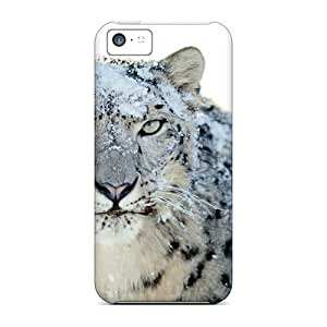 New DgZTS15009kjjOA Snow White Leopard Wide Skin Case Cover Shatterproof Case For Iphone 5c