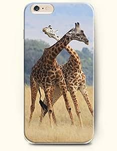 OOFIT Apple iPhone 6 Case 4.7 Inches - Two Giraffes Fighting wangjiang maoyi